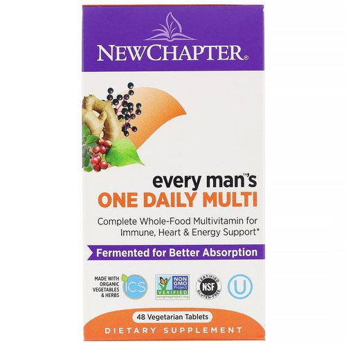 New Chapter, Every Man's One Daily Multi, 48 Vegetarian Tablets Review
