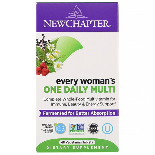 New Chapter, Every Woman's One Daily Multi, 48 Tablets Review