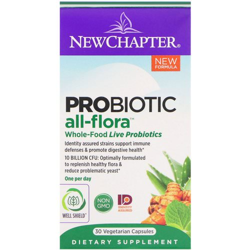 New Chapter, Probiotic All-Flora, 30 Vegan Capsules Review