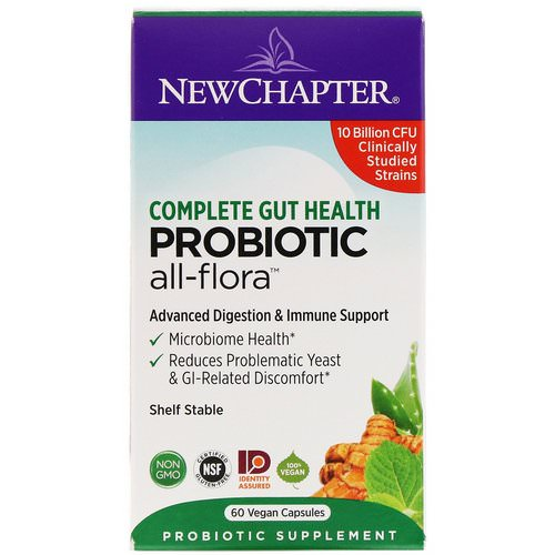 New Chapter, Probiotic All-Flora, 60 Vegan Capsules Review