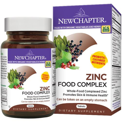 New Chapter, Zinc Food Complex, 60 Tablets Review