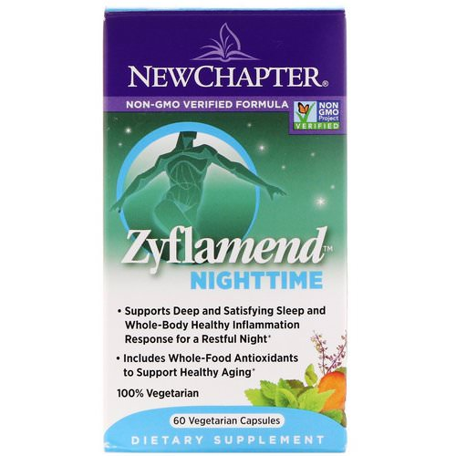 New Chapter, Zyflamend Nighttime, 60 Vegetarian Capsules Review