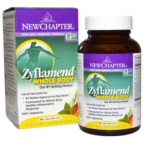 New Chapter, Zyflamend Whole Body, 60 Vegetarian Capsules Review