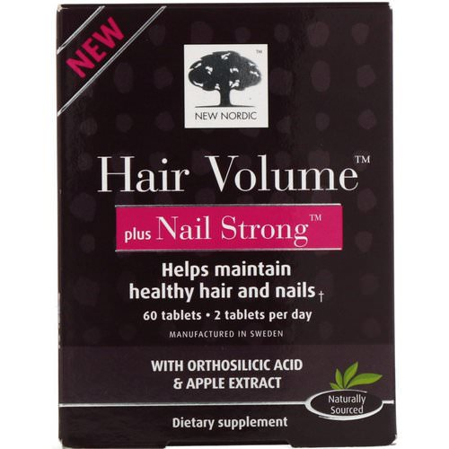 New Nordic, Hair Volume Plus Nail Strong, 60 Tablets Review
