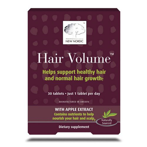 New Nordic, Hair Volume With Apple Extract, 30 Tablets Review