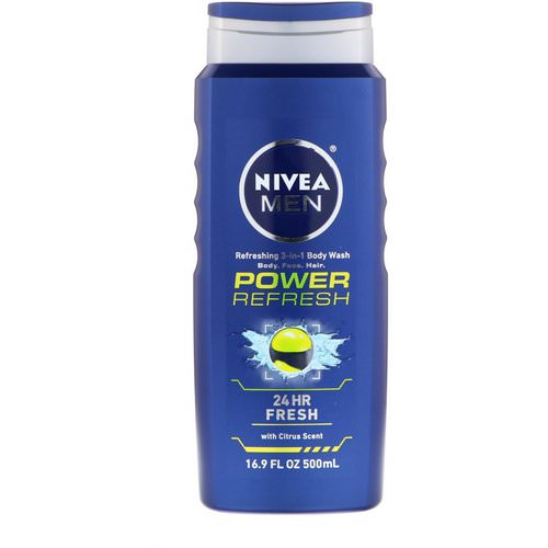 Nivea, Men 3-in-1 Body Wash, Power Refresh, 16.9 fl oz (500 ml) Review
