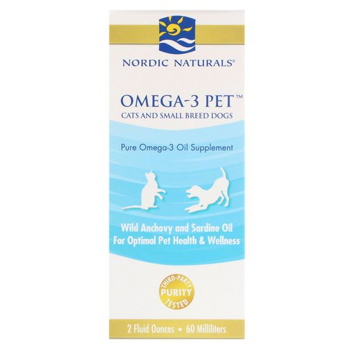 Nordic Naturals, Omega-3 Pet, Cats and Small Breed Dogs, 2 fl oz (60 ml) Review