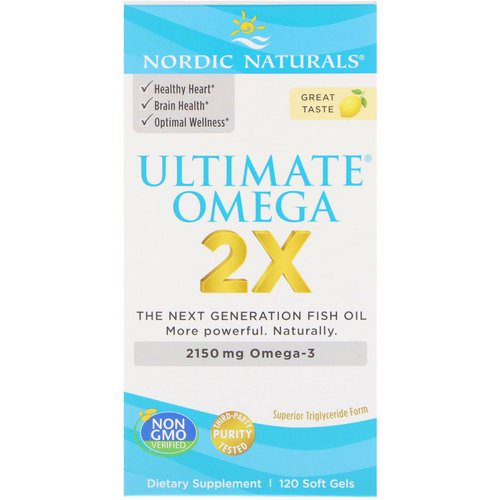 Nordic Naturals, Ultimate Omega 2X, 2150 mg, 120 Soft Gels Review