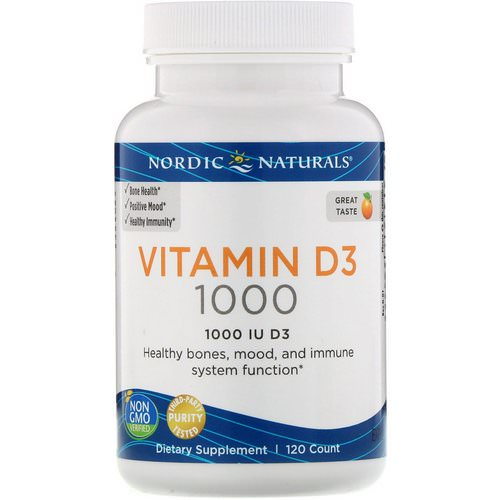 Nordic Naturals, Vitamin D3, Orange, 1000 IU, 120 Count Review