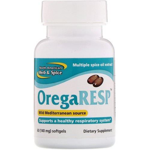 North American Herb & Spice, OregaResp, 140 mg, 60 Softgels Review