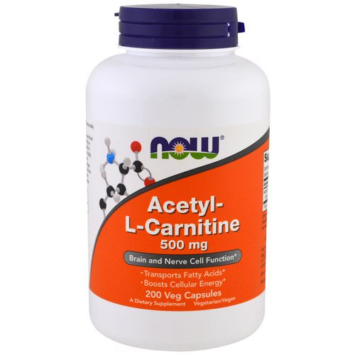 Now Foods, Acetyl-L Carnitine, 500 mg, 200 Veg Capsules Review