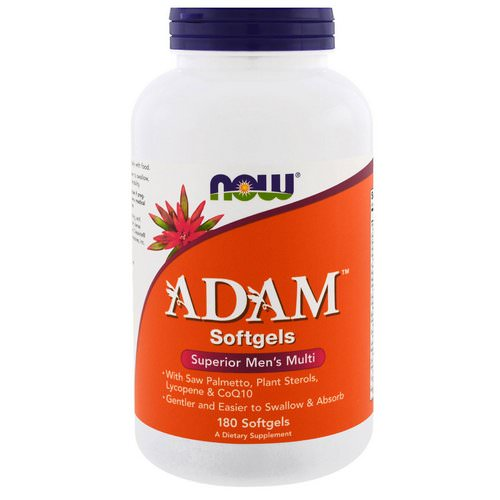Now Foods, ADAM, Superior Men's Multi, 180 Softgels Review