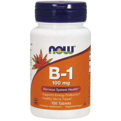 Now Foods, B-1, 100 mg, 100 Tablets Review