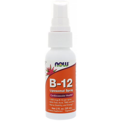 Now Foods, B-12 Liposomal Spray, 1,000 mcg, 2 fl oz (59 ml) Review