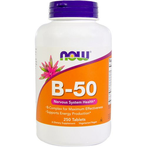 Now Foods, B-50, 250 Tablets Review