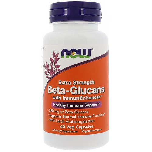 Now Foods, Beta-Glucans, with ImmunEnhancer, Extra Strength, 250 mg, 60 Veg Capsules Review