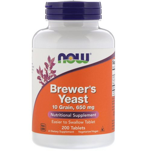 Now Foods, Brewer's Yeast, 200 Tablets Review
