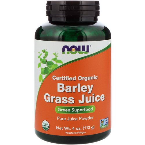 Now Foods, Certified Organic Barley Grass Juice, 4 oz (113 g) Review