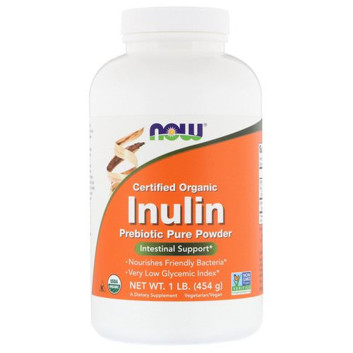 Now Foods, Certified Organic Inulin, Prebiotic Pure Powder, 1 lb (454 g) Review