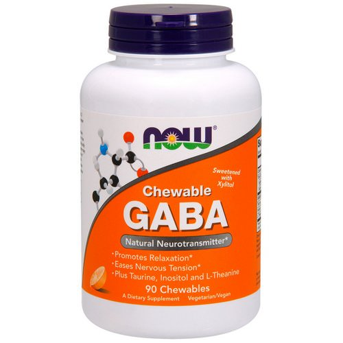 Now Foods, Chewable GABA, Natural Orange Flavor, 90 Chewables Review