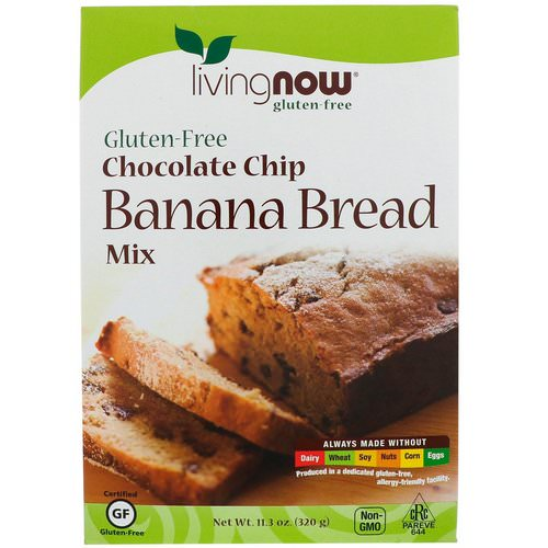 Now Foods, Chocolate Chip Banana Bread Mix, Gluten-Free, 11.3 oz (320 g) Review
