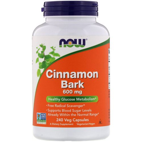 Now Foods, Cinnamon Bark, 600 mg, 240 Veg Capsules Review
