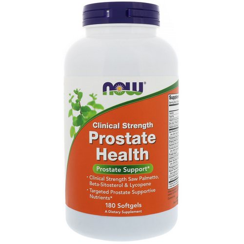 Now Foods, Clinical Strength Prostate Health, 180 Softgels Review