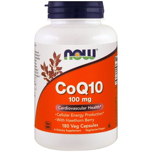 Now Foods, CoQ10, With Hawthorn Berry, 100 mg, 180 Veggie Capsules Review