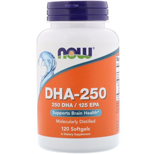 Now Foods, DHA-250/EPA-125, 120 Softgels Review