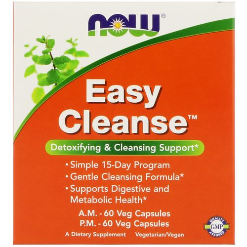 Now Foods, Easy Cleanse, 2 Bottles, 60 Veg Capsules Each Review