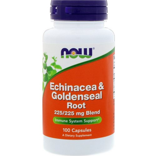Now Foods, Echinacea & Goldenseal Root, 100 Capsules Review