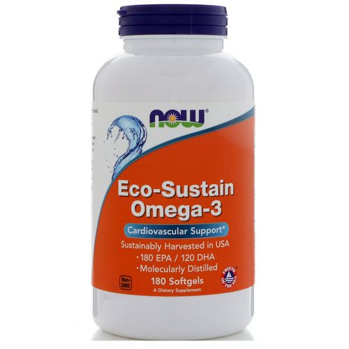 Now Foods, Eco-Sustain Omega-3, 180 Softgels Review