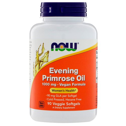 Now Foods, Evening Primrose Oil, 1000 mg, 90 Veggie Softgels Review