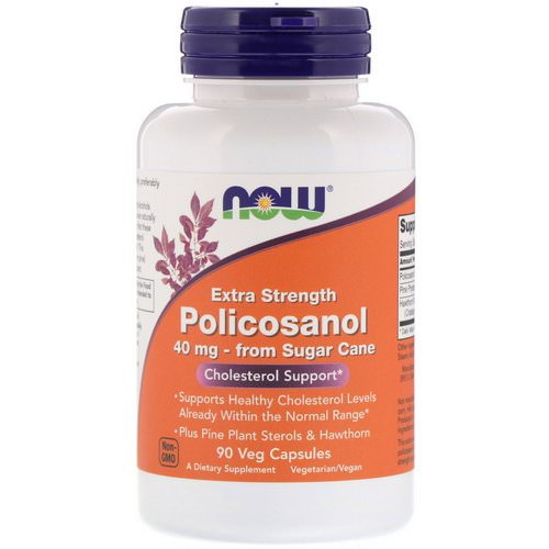 Now Foods, Extra Strength Policosanol, 40 mg, 90 Veg Capsules Review