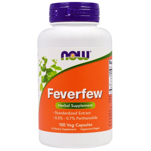 Now Foods, Feverfew, 100 Veggie Caps Review