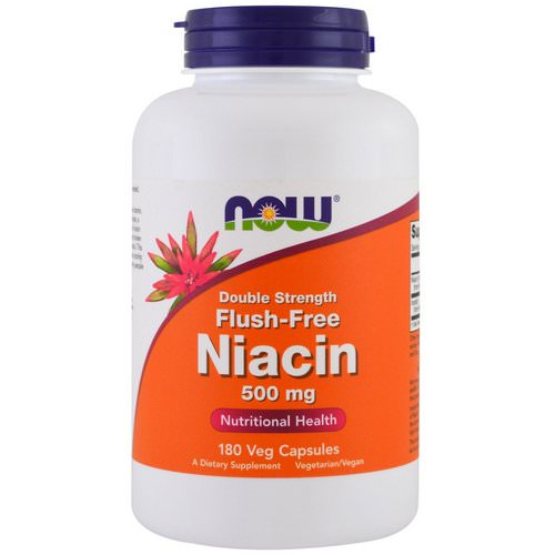 Now Foods, Flush-Free Niacin, Double Strength, 500 mg, 180 Veg Capsules Review