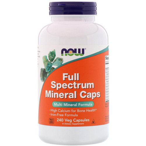 Now Foods, Full Spectrum Minerals Caps, 240 Veg Capsules Review