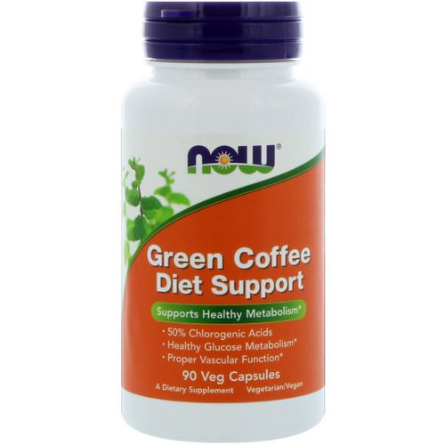 Now Foods, Green Coffee Diet Support, 90 Veg Capsules Review