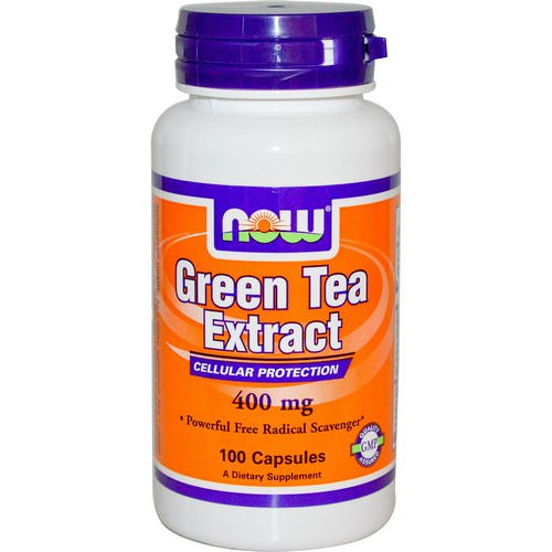 Now Foods, Green Tea Extract, 400 mg, 100 Capsules Review