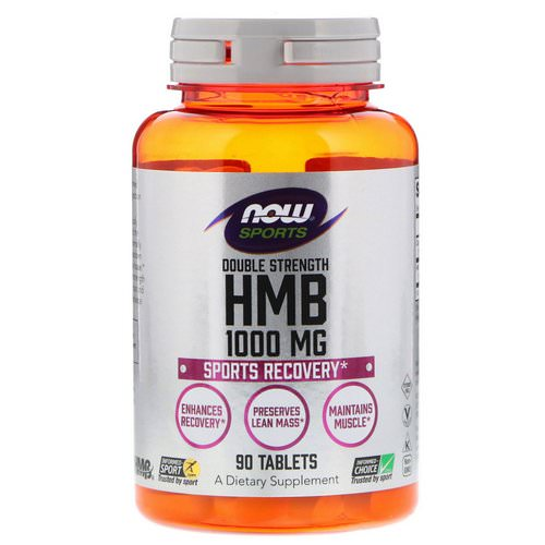 Now Foods, HMB, Double Strength, 1,000 mg, 90 Tablets Review