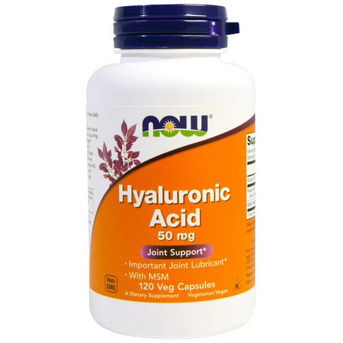Now Foods, Hyaluronic Acid, 50mg, 120 Veg Capsules Review