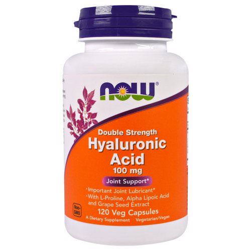 Now Foods, Hyaluronic Acid, Double Strength, 100 mg, 120 Veg Capsules Review