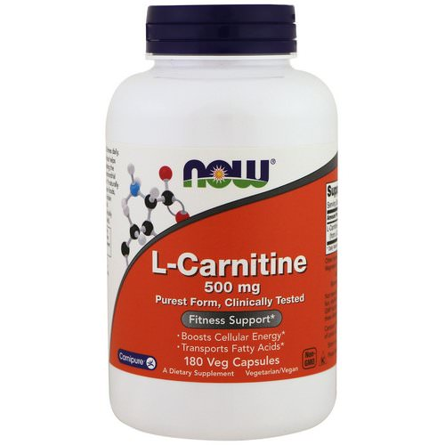 Now Foods, L-Carnitine, 500 mg, 180 Veg Capsules Review