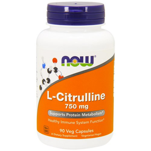 Now Foods, L-Citrulline, 750 mg, 90 Veg Capsules Review
