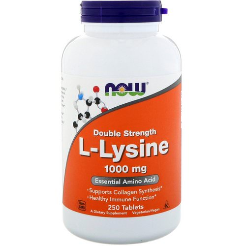 Now Foods, L-Lysine, 1000 mg, 250 Tablets Review
