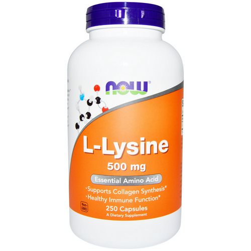 Now Foods, L-Lysine, 500 mg, 250 Capsules Review