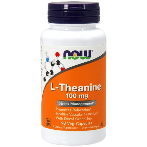 Now Foods, L-Theanine, 100 mg, 90 Veg Capsules Review