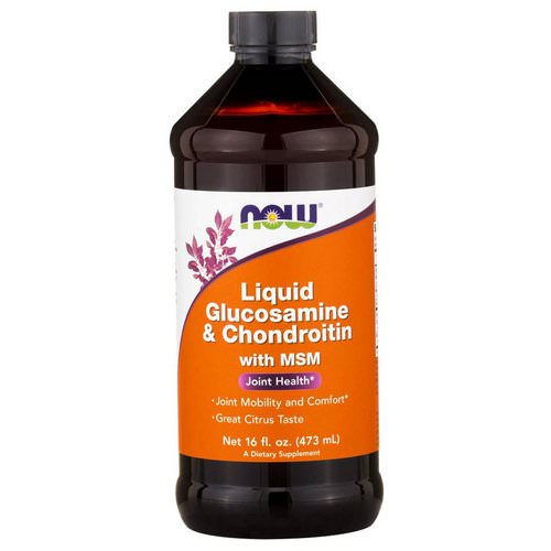 Now Foods, Liquid Glucosamine & Chondroitin, with MSM, Citrus, 16 fl oz (473 ml) Review