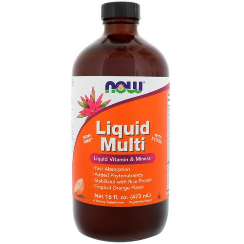Now Foods, Liquid Multi, Tropical Orange Flavor, 16 fl oz (473 ml) Review