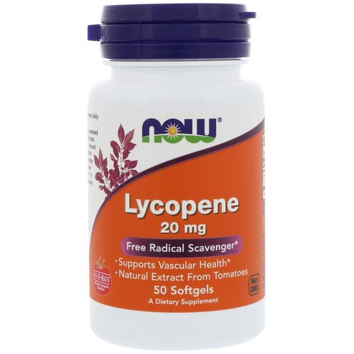 Now Foods, Lycopene, 20 mg, 50 Softgels Review